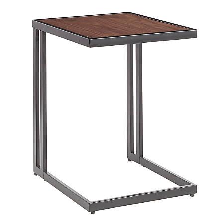 LumiSource Roman Side Table, Walnut/Black
