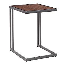 LumiSource Roman Side Table WalnutBlack