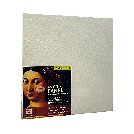 "Ampersand Artist Panel Canvas Texture Flat Profile, 12"" x 12"", 3/8"", Pack Of 2"