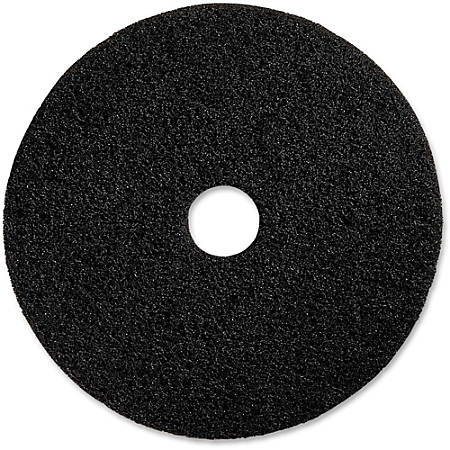 "Genuine Joe Black Floor Stripping Pad - 20"" Diameter - 5/Carton x 20"" Diameter x 1"" Thickness - Fiber - Black"