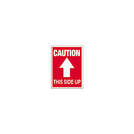 """Tape Logic® Preprinted Shipping Labels, SCL511R, """"Caution This Side Up,"""" 3"""" x 4"""", Red/White, Pack Of 500"""
