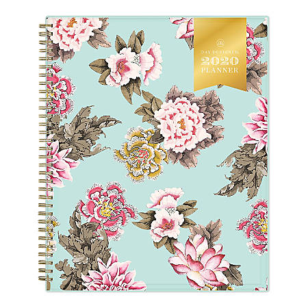"Blue Sky™ Day Designer Weekly/Monthly CYO Planner, 8-1/2"" x 11"", Grand Bloom, January To December 2020, 116868"