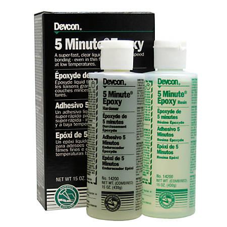 Devcon® 5-Minute Epoxy Liquid Tube, 15 Oz