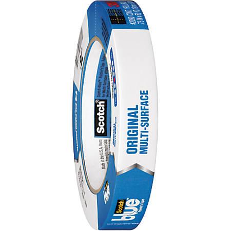"Scotch® 2090 Long Mask™ Weatherable Masking Tape, 3"" Core, 0.75"" x 60 Yd., Blue, Case Of 12"