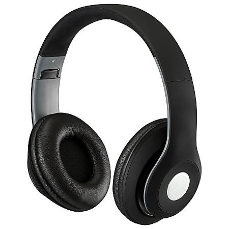 iLive Bluetooth® Wireless Over-The-Ear Headphones, Black, IAHB48MB