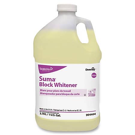 Diversey Suma Block Whitener - Ready-To-Use Liquid - 1 gal (128 fl oz) - Chlorine Scent - 4 / Carton - Yellow