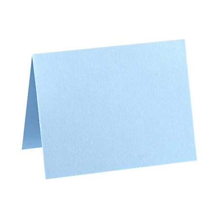 "LUX Folded Cards, A1, 3 1/2"" x 4 7/8"", Baby Blue, Pack Of 500"