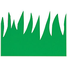 Hygloss Green Grass Design Border Strips