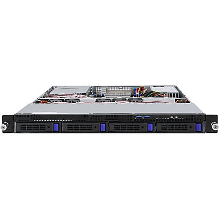 "Gigabyte R120-T32 Barebone System - 1U Rack-mountable - 1 x Processor Support - 256 GB DDR4 SDRAM DDR4-2133/PC4-17000 Maximum RAM Support - Serial ATA/600 - ASPEED AST2400 Integrated - 4 x Total Bays - 4 3.5"" Bay(s) - 1 x Total Expansion Slots"