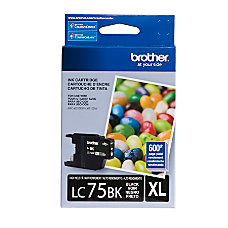 Brother LC75BK High Yield Black Ink
