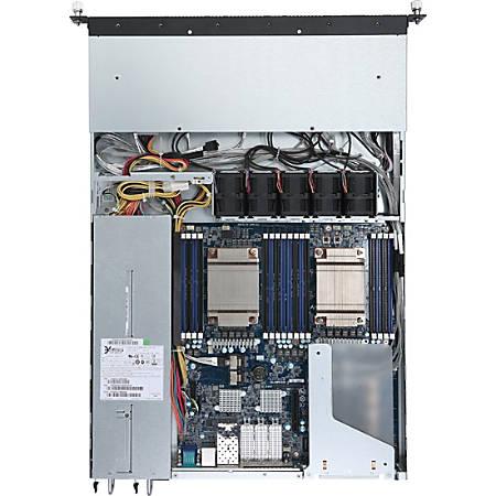 Gigabyte R150-T62 Barebone System - 1U Rack-mountable - Socket BGA-2601 - 2 x Processor Support - 512 GB DDR4 SDRAM DDR4-2133/PC4-17000 Maximum RAM Support - Serial ATA/600 RAID Supported Controller - ASPEED AST2400 Integrated - 4 x Total Bays