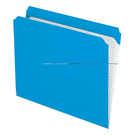 Pendaflex® Reinforced-Top File Folders, Straight Cut Tab, Letter Size, Blue, Box Of 100 Folders