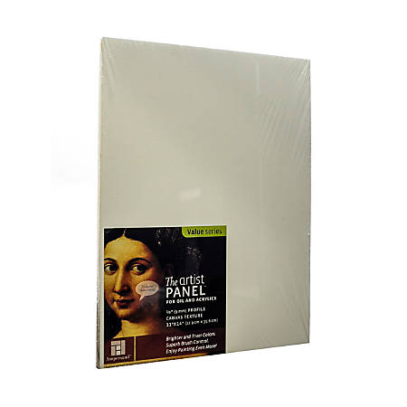"Ampersand Artist Panel Canvas Texture Flat Profile, 11"" x 14"", 3/8"", Pack Of 2"