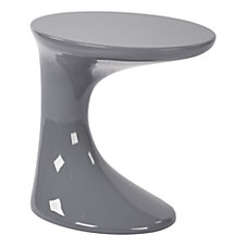 Ave Six Slick End Table Round