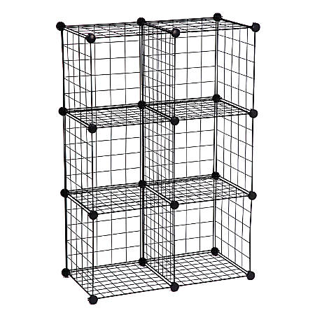 Honey-Can-Do SHF-02113 6-Pack Modular Mesh Storage Cube, Black