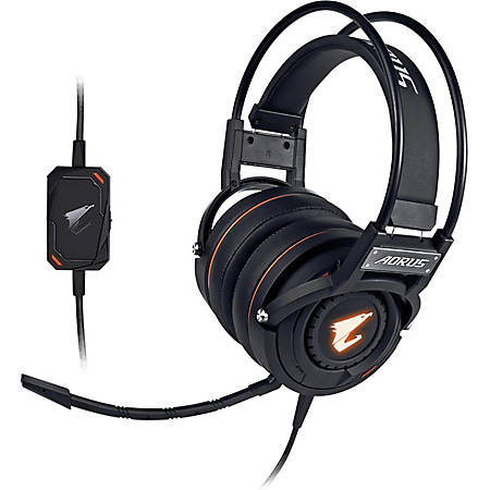 Aorus H5 Headset - Stereo - Mini-phone - Wired - 32 Ohm - 20 Hz - 20 kHz - Over-the-head - Binaural - Circumaural - 9.84 ft Cable - Uni-directional Microphone - Black