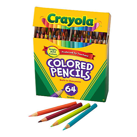 Crayola® Kids\' Color Choice Short Color Pencil Set, Box Of 64 Item # 689765