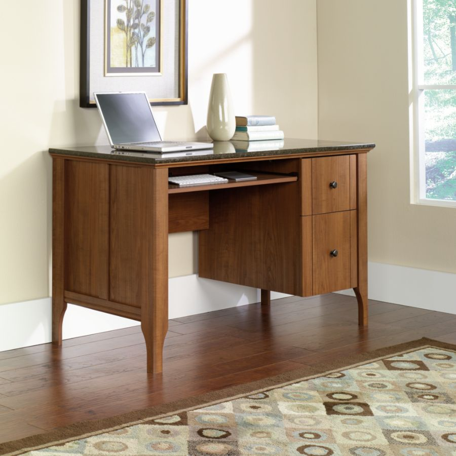 Sauder Appleton Faux Marble Top Computer Desk Sand Pear by Office