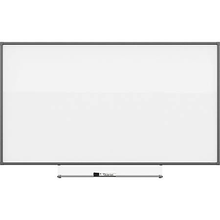 """Quartet Silhouette Total Erase Board - 42"""" (3.5 ft) Width x 74"""" (6.2 ft) Height - White Melamine Surface - Rectangle - Assembly Required - 1 Each"""