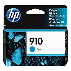 HP 910 Cyan Ink Cartridge