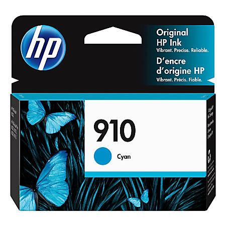 HP 910 Original Ink Cartridge, Cyan (3YL58AN)