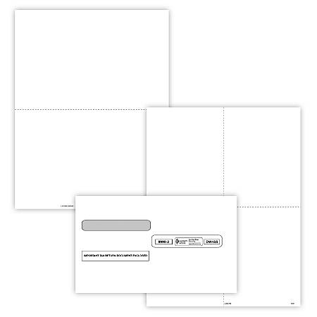 """ComplyRight™ W-2 Tax Forms, With Self-Seal Envelopes, Inkjet/Laser, Blank, 8-1/2"""" x 11"""", Pack Of 50 Forms And Envelopes"""