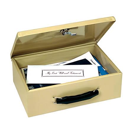 STEELMASTER® Fire-Retardant Security Box, 1 Compartment, Sand