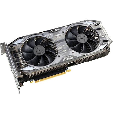 EVGA GeForce RTX 2080 Ti Graphic Card - 1.65 GHz Boost Clock - 11 GB GDDR6 Type-C - Triple Slot Space Required - 352 bit Bus Width - Fan Cooler - OpenGL 4.5, DirectX 12, Vulkan - 3 x DisplayPort - 1 x HDMI - PC - 4 x Monitors Supported