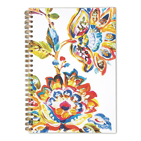 """Cambridge® Hannah Weekly/Monthly Planner, 5-1/2"""" x 8-1/2"""", Multicolor, January to December 2020, 1161-200"""