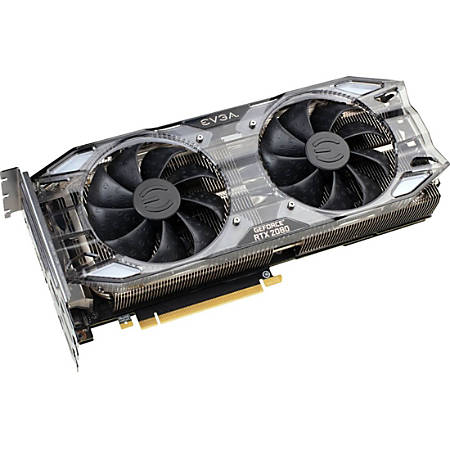 EVGA GeForce RTX 2080 Graphic Card - 1.82 GHz Boost Clock - 8 GB GDDR6 - Triple Slot Space Required - 256 bit Bus Width - Fan Cooler - DirectX 12, Vulkan, OpenGL 4.5 - 3 x DisplayPort - 1 x HDMI - PC - 4 x Monitors Supported
