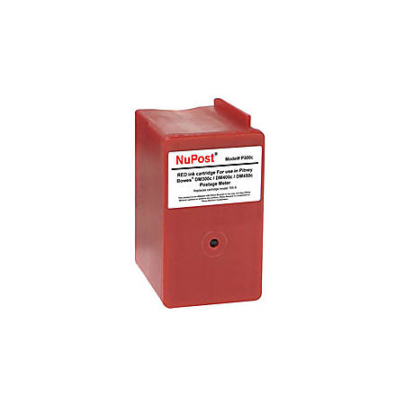 NuPost NPT300C (Pitney Bowes 765-9) Remanufactured Red Ink Cartridge