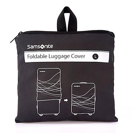 "Samsonite® Foldable Luggage Cover, 9""H x 7 7/8""W x 1 9/16""D, Black"