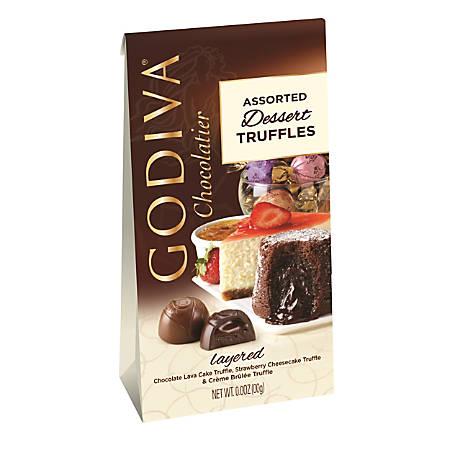 Godiva Dessert Truffles, 4.25 Oz Bag