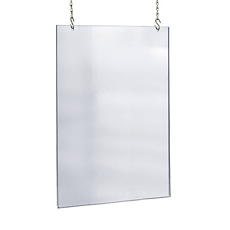 Azar Displays Acrylic Hanging Poster Frame 36 x 24 Clear by Office ...
