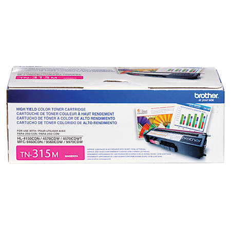 Brother® TN-315M Magenta Toner Cartridge