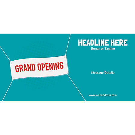 Custom Horizontal Banner, Grand Opening Banner