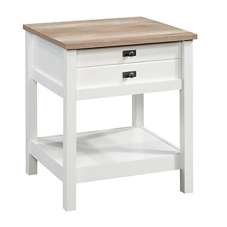 Sauder® Cottage Road Side Table, Rectangular, Lintel Oak/Soft White