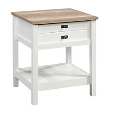Sauder Cottage Road Side Table Rectangular