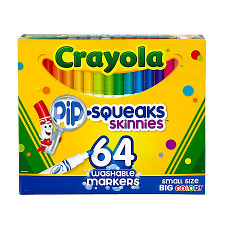 Crayola® Pip-Squeaks™ Skinnies Kids' Color Choice Box, Assorted Colors, Box Of 64