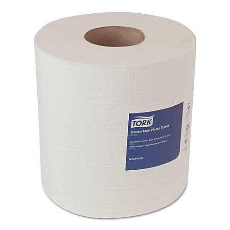 """Tork® 2-Ply Centerfeed Hand Towel Rolls, 7 5/8"""" x 491', White, 500 Towels Per Roll, Case Of 6 Rolls"""