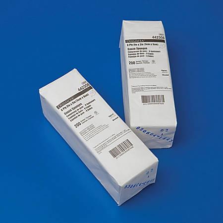 """Covidien DERMACEA™ Gauze Sponges, Sterile 2s, 2"""" x 2"""", 8-Ply00"""