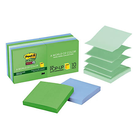 Post It Super Sticky Recycled Pop Up Notes 3 X