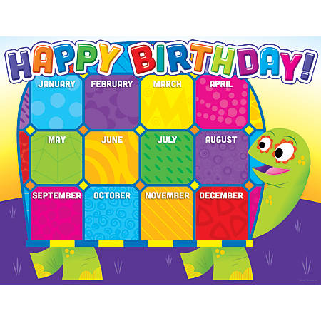 Scholastic jingle jungle birthday chart office depot