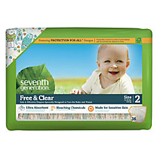 Seventh Generation Free Clear Baby Diapers