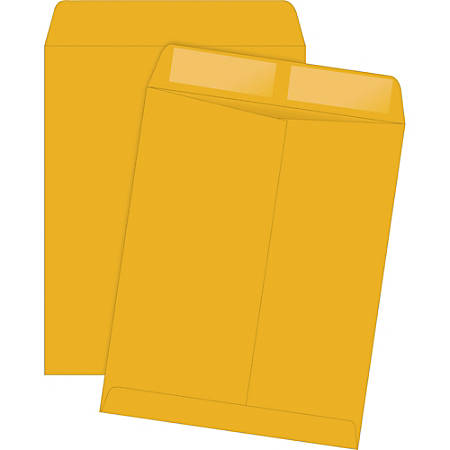 """Quality Park® Catalog Envelopes With Gummed Closure, 11 1/2"""" x 14 1/2"""", Brown, Box Of 250"""