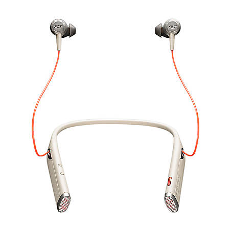 Plantronics Voyager 6200 UC Business-Ready Bluetooth Neckband Headset With Earbuds - Stereo - Wireless - Bluetooth - 98.4 ft - 20 Hz - 20 kHz - Earbud, Behind-the-neck - Binaural - In-ear - Noise Canceling - Sand