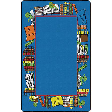 "Flagship Carpets Bookworm Border, Rectangle, 7' 6"" x 12', Multicolor"