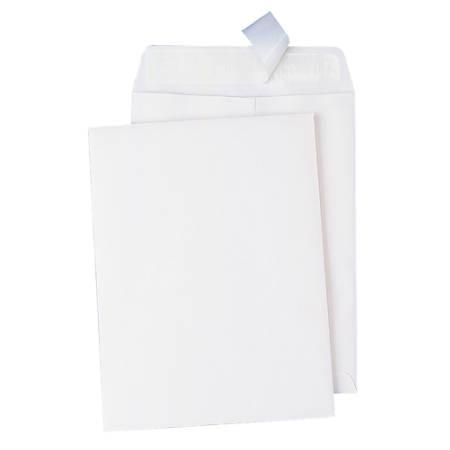 "Quality Park® Redi-Strip™ Catalog Envelopes, 11 1/2"" x 14 1/2"", White, Box Of 100"