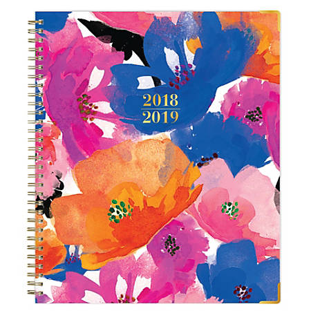 """Blue Sky™ Weekly/Monthly Planner, 10"""" x 8"""", Multicolor, July 2018 to June 2019"""
