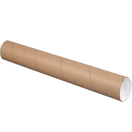 """Office Depot® Brand Kraft Mailing Tubes With Plastic Endcaps, 3"""" x 36"""", Pack Of 24"""